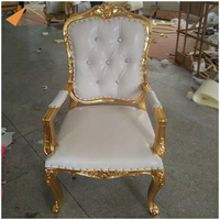 High quality lion king throne chairs chair with gold leather