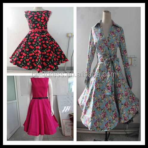 WHLESALE PINUP ROCKABILLY PROM PLEATED DRESS VINTAGE RETRO DRESS BRIDEMAID DRESS CHEAP