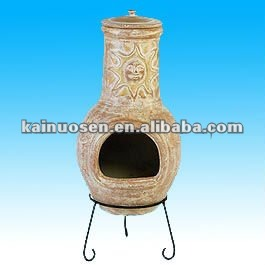 Hand made terracotta chimineas for outdoor