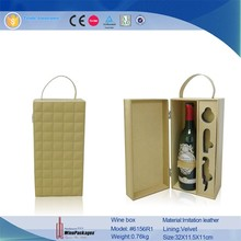 pu leather wine carrier /box for 375ml bottle,Customized special paper cardboard wine box