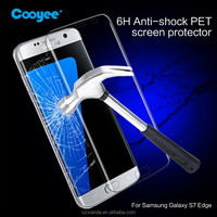 explosion-proof 0.1mm tempered glass screen film for s7 edge tpu screen protector