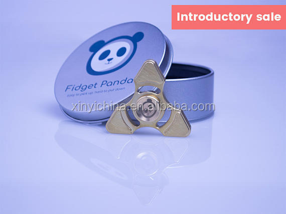 EDC Metal Fidget Panda Star Fidget Spinner with Cap, Ultra Long Spin, Changeable Premium R188 Bearing