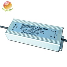High efficiency low ripple 24v 300w ac power supply waterproof ip67 300W 24V LED power supply five years warranty