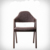 American style creative solid wooden fabric armchair
