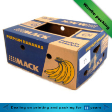 High quality banana corrugated packaging box with lid