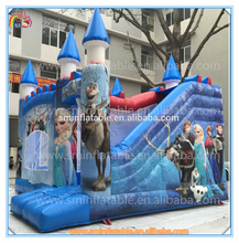Factory price inflatable frozen bouncer castle,inflatable frozen jumping house,inflatable castle with slide for kids