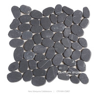 natural washed river pebble vinyl flooring pebble stone floor mat