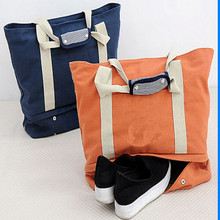 Multi-function Canvas Tote Travel Handbag High Quality Shoulder Storage Bags With Shoes Compartment