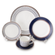 5pcs Blue and white color bone china microwave,ceramic tableware from china,wedding party tableware