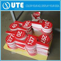 Plastic double sides pvc material