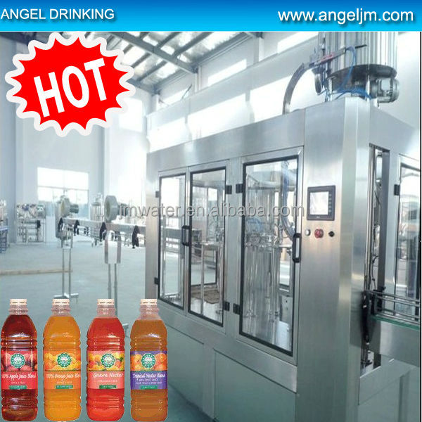 Automatic PET Bottle Tea Drink Production Line / Fruit Juice Making Machine