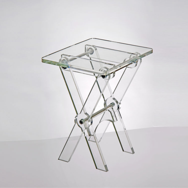 Clear Acrylic Tv Tray Or Folding Coffee Table
