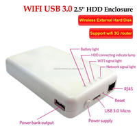 Hot sale Wifi USB 3.0 2.5 hdd enclosure , Support 3G wifi router power bank