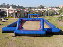2017 best PVC inflatable soccer playground for sale