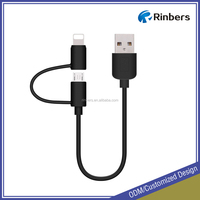 Micro USB 2-in-1 Charge and Sync Cable Cord for iPhone iPad iPod Samsung HTC Nokia Andriod Phones