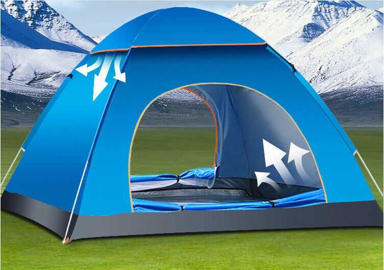 Waterproof Automatic Outdoor Tent For Camping Double Layer