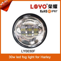 Newest Aluminum PC lens Waterproof 30w 1440LM led fog light motorcycle special for Harley