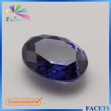 FACETS GEMS Hot Sale Oval Cut Cubic Zirconia Gemstone Loose Synthetic Tanzanite Stone