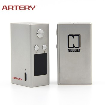 Nugget e cigarette variable voltage 50W temperature control mini box mod by artery vapor