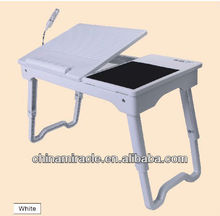 study table notebook table folding laptop table with mouse pad and cup holder