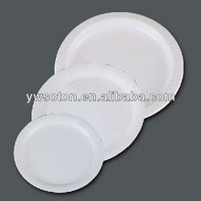 white round paper plate disposable paper plate