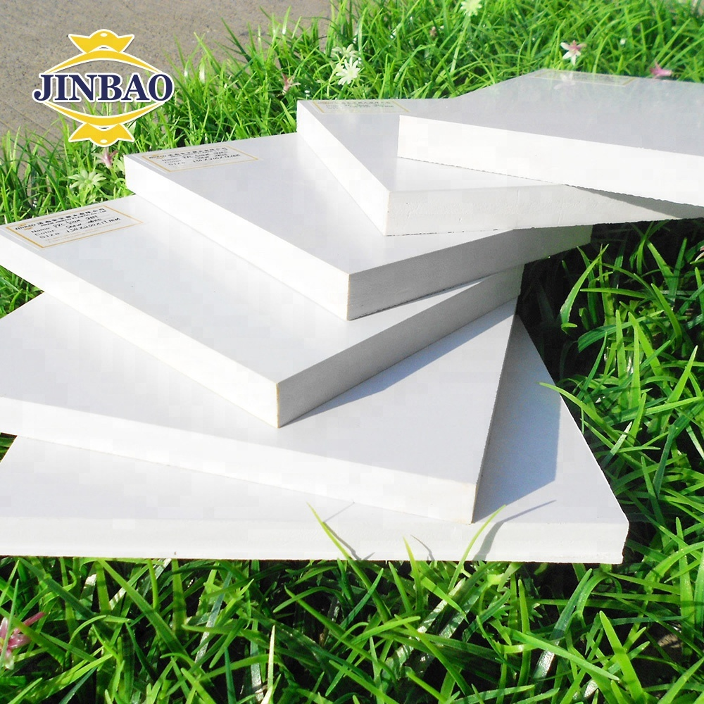 JINBAO 48x96 inch high density snow white smooth 18mm <strong>PVC</strong> factory