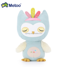 High quality lovely Metoo soft stuffed plush owl dolls for kids