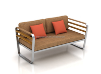 Outdoor garden stainless steel sofa new designed furniture
