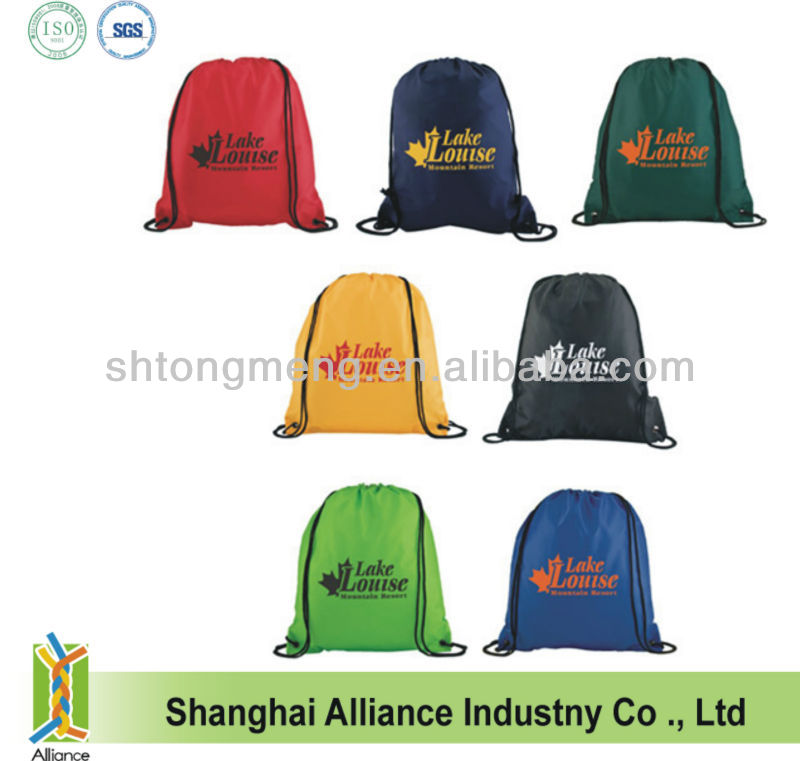 Custom Logo Business Corperate Advertisement Promo Drawstring Backpack