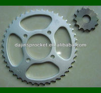Dajin high quality C45S motorcycle front and rear sprocket/chain sprocket for AX100