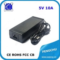 Constant voltage 5V 10A led power adaptor for LED Lightings