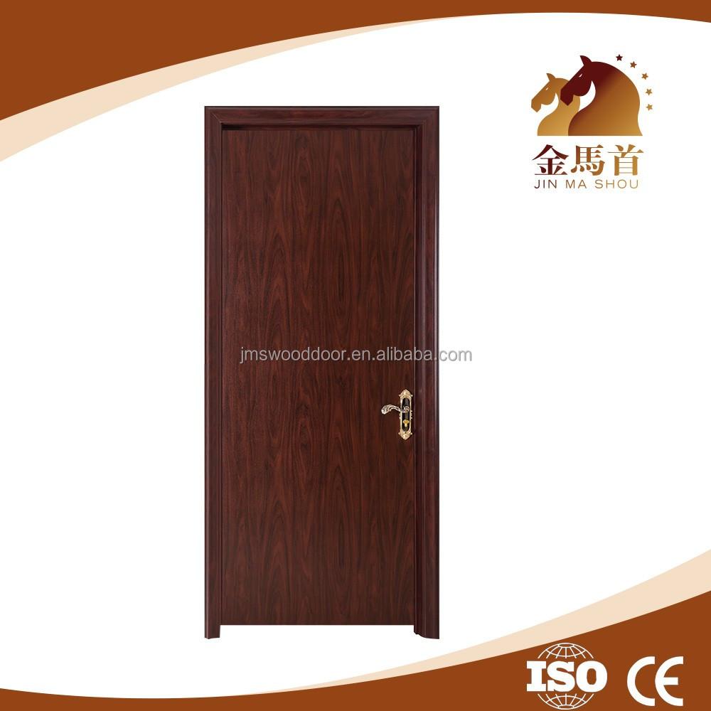 2017 best selling wooden pvc veneered mdf embossing interior doors wooden