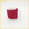 High quality ceramic mug with knitted sleeve cover
