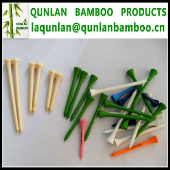 Customized Bamboo Yellow Golf Tees