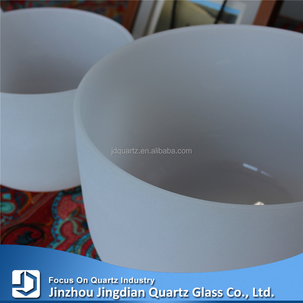 "14"" and <strong>18</strong>"" 2 pcs frosted crystal singing bowl with different notes"