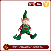 Hot sales colorful funny plush gifts dolls decoration christmas hanging elf