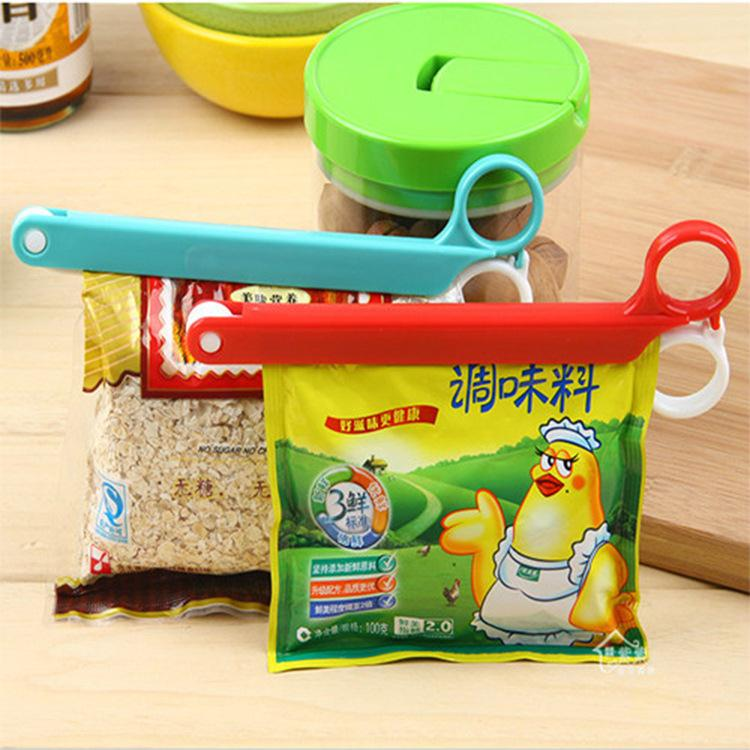 Colored Plastic Bag clip Plus size Sealer up for food flavoring trash pack Kitchen accessories Novelty household