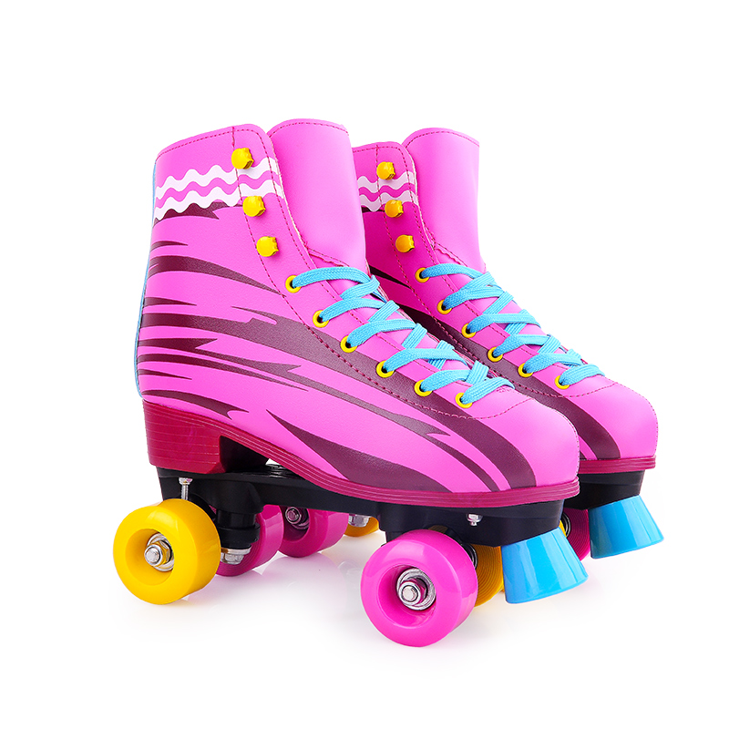 Pinky Soy Luna Type Patines Quad Roller Skate Women Children PVC Wheel MOQ 1 Pair