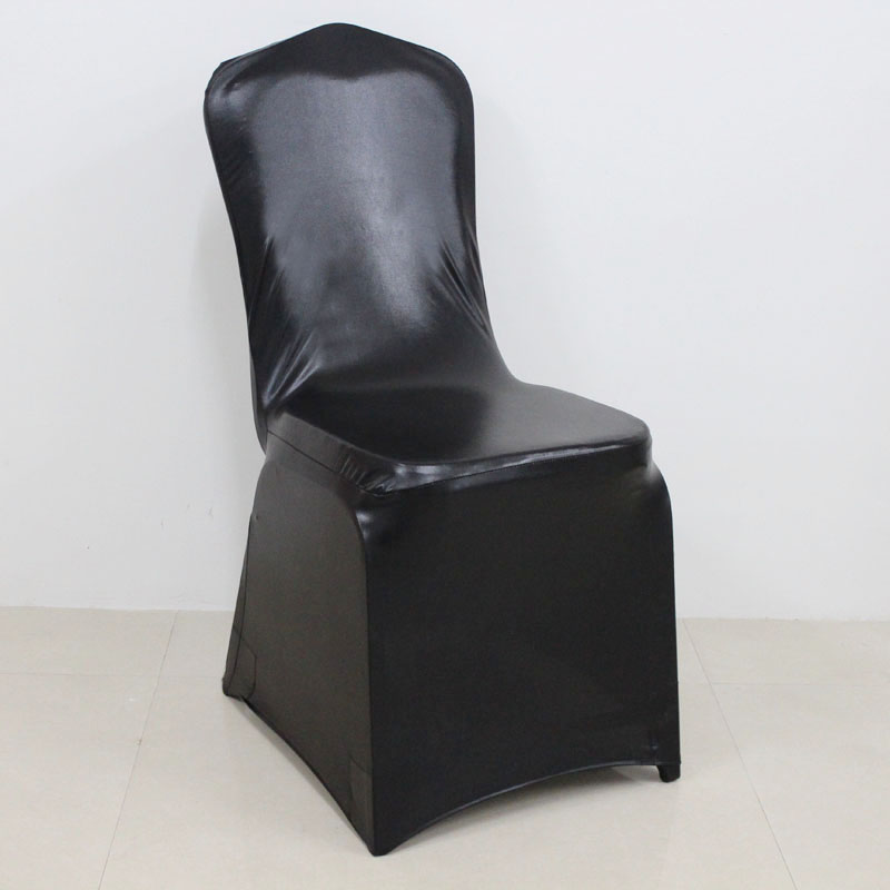 spandex folding metallic dining room salon chair cover lycras