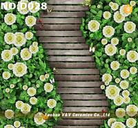 Flower Pattern 3D Flooring Prices,3D Wall and Floor Tile,3D Flooring