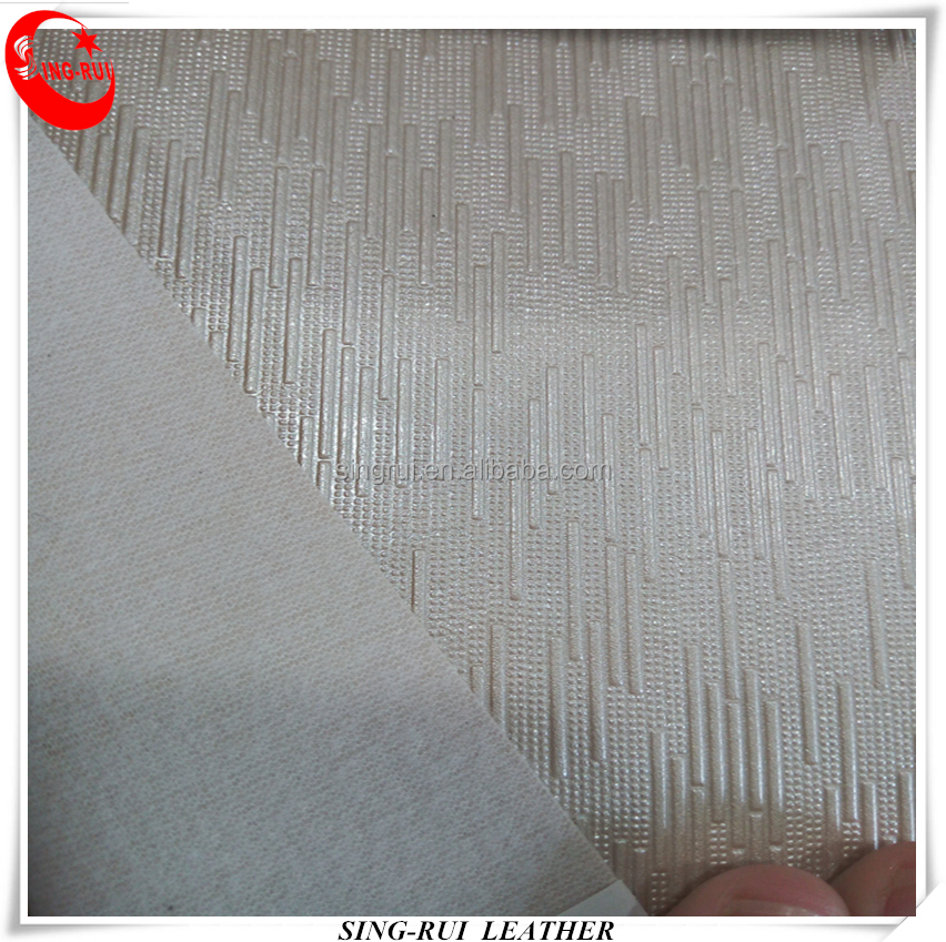 Fish Net Backing PVC Synthetic Leather Materials Use Furniture