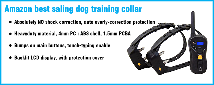 300m Remote Dog Training Collar Anti Bark Shock collar Peted Electric Waterproof Shock Dog Training Collar With Remoter Control