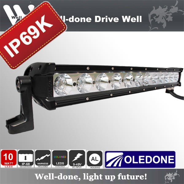 120W 21'' Oledone hot sale aluminum housing combo beam waterproof IP69K LED light bar for Racing WD-12N10