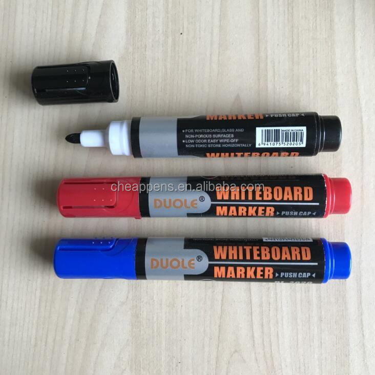 durable whiteboard pen with bullet felt tip