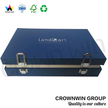 Customized Cardboard Mini Suitcase Gift Box With Lock CrownWin Packaging