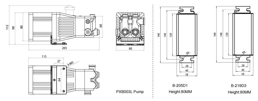 Small flowrate high pressure water mist pump