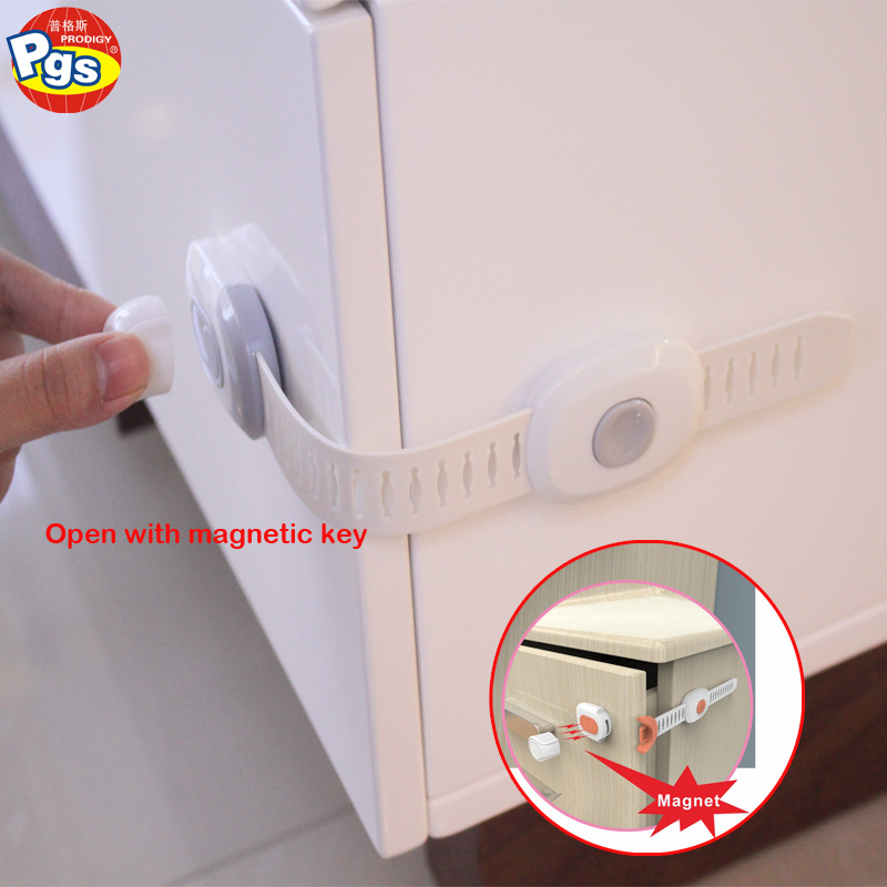 8 Locks + 2 Keys Baby Proof Magnetic Child Safety Locks Set For Cabinets Drawers