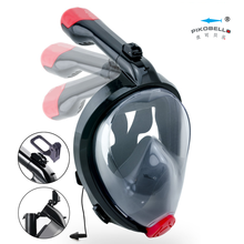 "Full Face Snorkel Mask, ""Foldable"" 180 Panoramic View easy-breath snorkel mask"