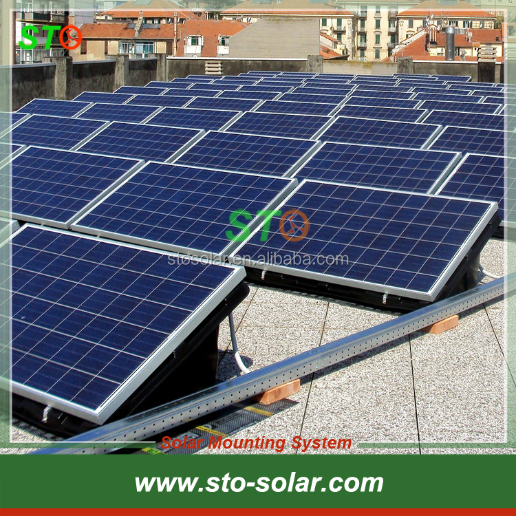 C-type Steel Ballasted Solar Mounting System