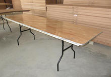 Used Cheap Plywood Banquet Rect Folding Tables For Sale